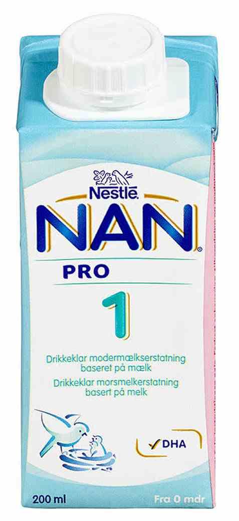 Bilde av Nestle nan pro 1 hmo drikkeklar fra fødsel.