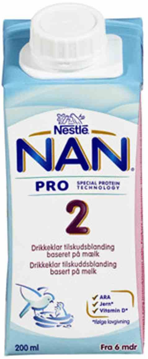 Bilde av Nestle nan pro 2 drikkeklar fra 6 mnd.