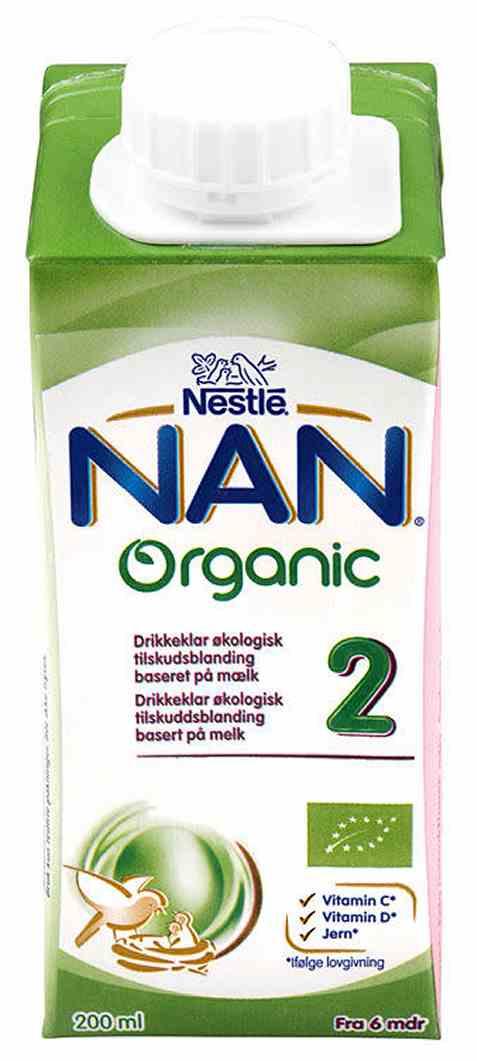Bilde av Nestle nan pro 2 drikkeklar økologisk fra 6 mnd.