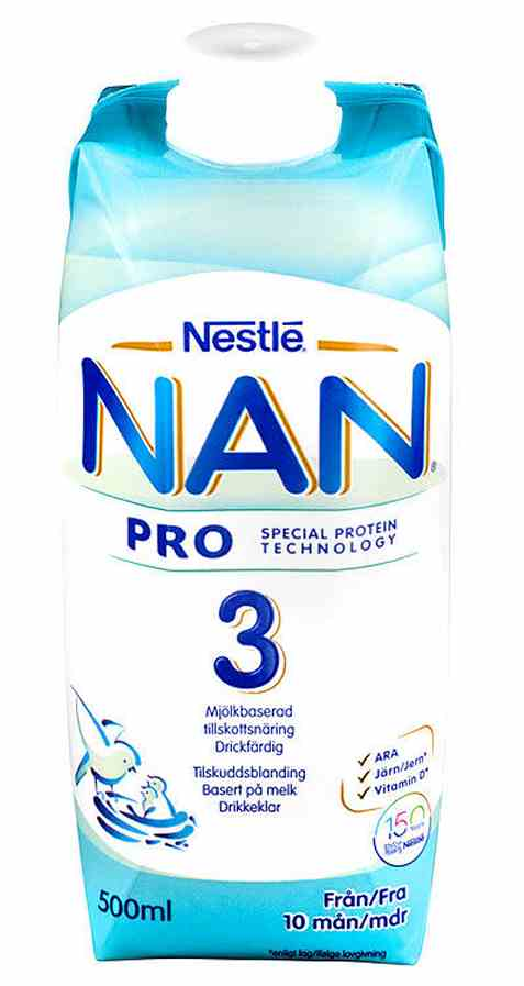 Bilde av Nestle nan 3 drikkeklar juniormelk fra 10 mnd.