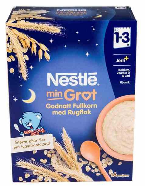 Bilde av Nestlé min grøt God natt fullkorn fra 12 mnd, pulver.