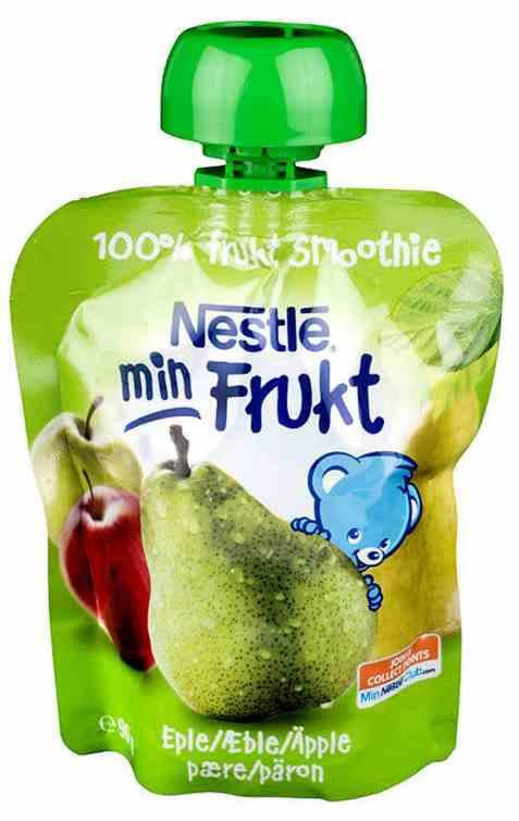 Bilde av Nestlé min frukt smoothie eple og pære 6 mnd.