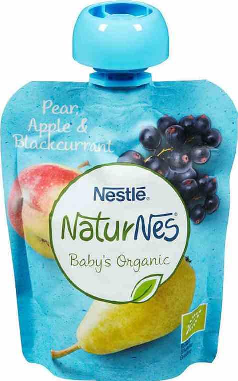 Bilde av Nestlé naturnes økologisk pære og eple smoothie 6 mnd.