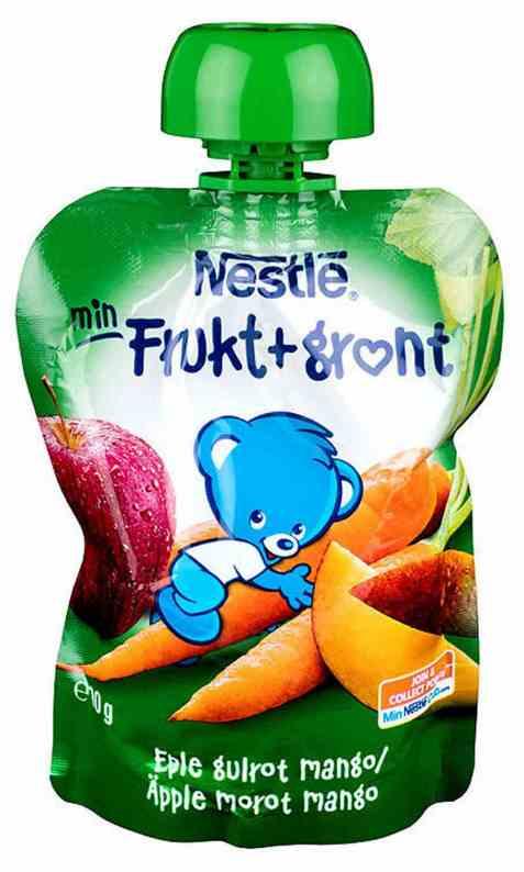 Bilde av Nestlé min frukt smoothie gulrot 6 mnd.