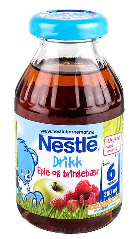 Bilde av Nestlé bringebærdrikk med eple.