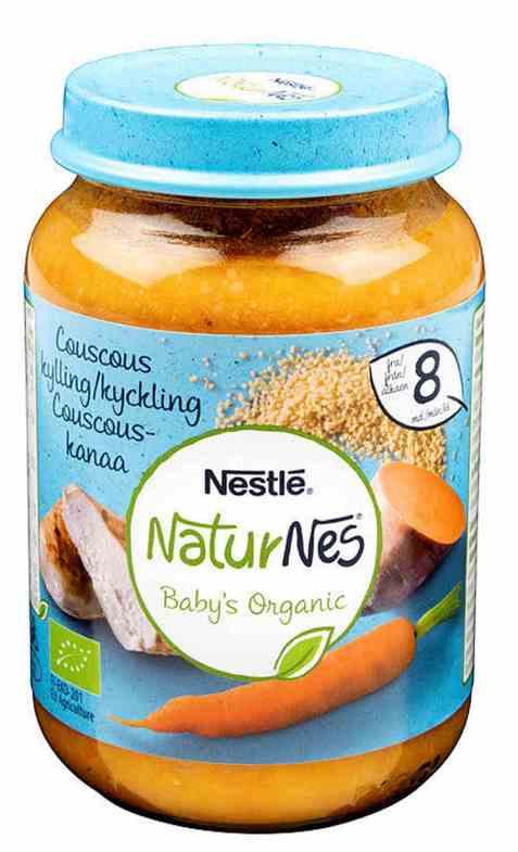 Bilde av Nestlé naturnes økologisk couscous kylling 8 mnd.