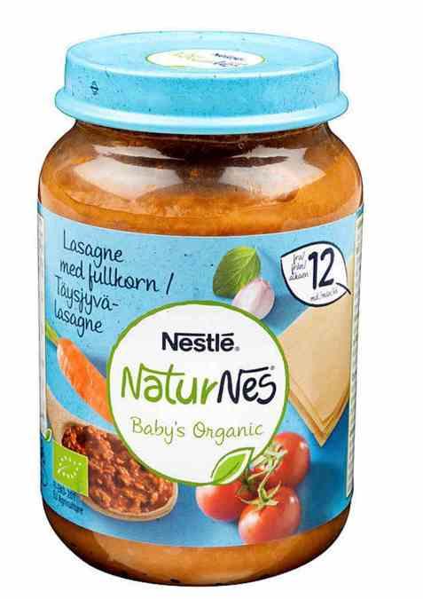 Bilde av Nestlé naturnes økologisk fullkornslasagne 12 mnd.