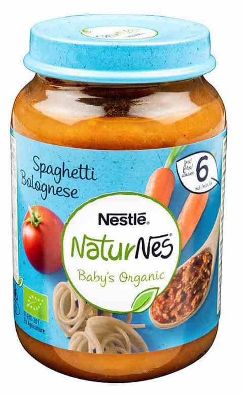 Bilde av Nestlé naturnes økologisk spaghetti bolognese 6 mnd.