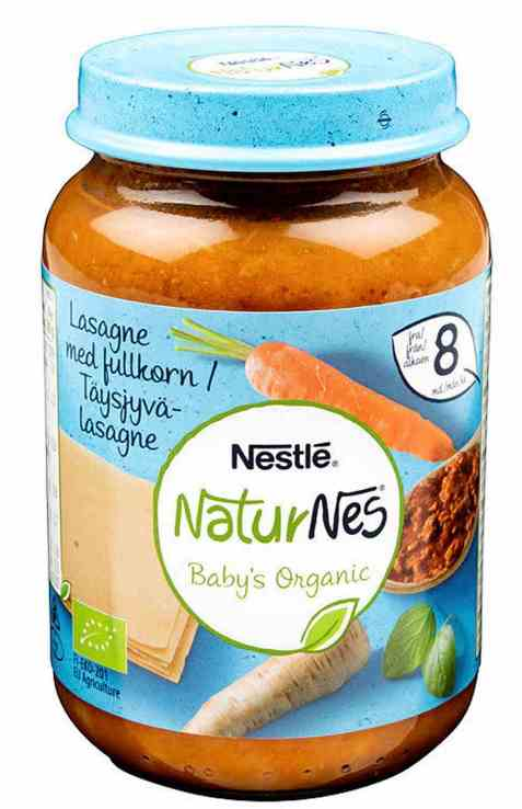 Bilde av Nestlé naturnes økologisk fullkornslasagne mild 8 mnd.
