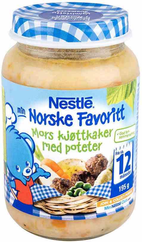 Bilde av Nestle norske favoritter mors kjøttkaker 12 mnd.