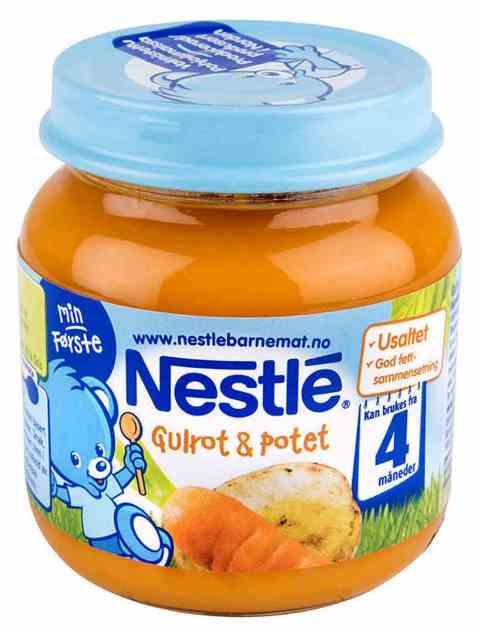 Bilde av Nestle min første potet og gulrotpure 4 mnd.