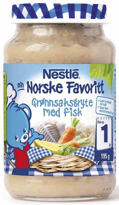 Bilde av Nestle norske favoritter grønnsaksgryte med fisk 12 mnd.