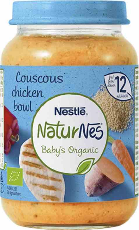 Bilde av Nestlé naturnes økologisk couscous kylling 12 mnd.