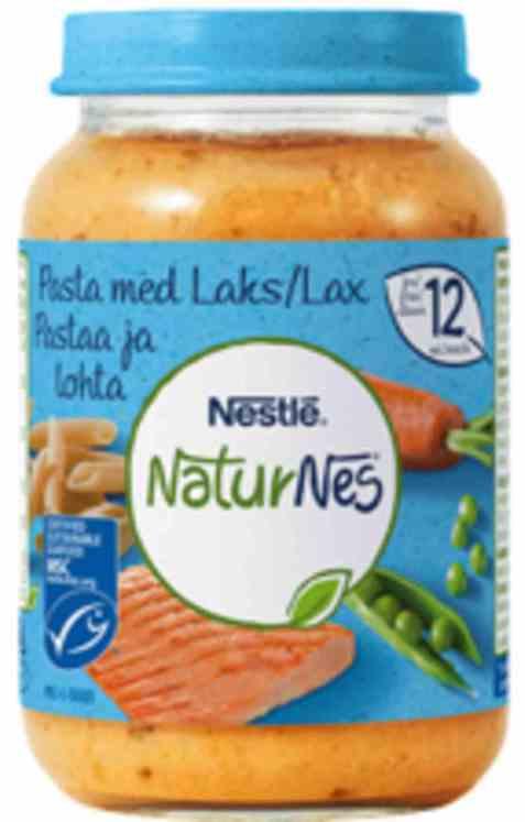 Bilde av Nestlé naturnes økologisk pasta med laks 12 mnd.