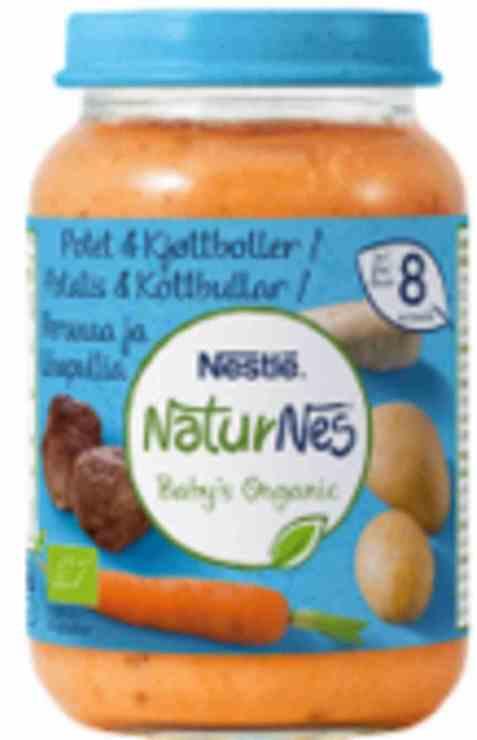 Bilde av Nestlé naturnes økologisk mors potet kjøttkaker 8 mnd.