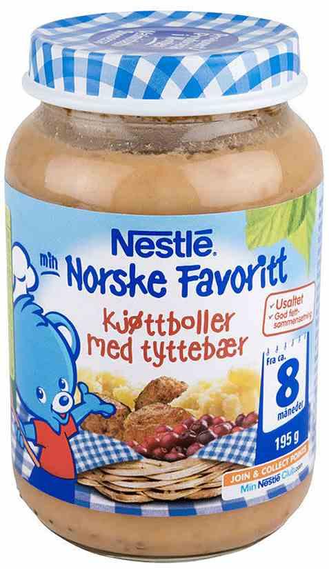 Bilde av Nestle norske favoritter kjøttboller med potet og tyttebær 8 mnd.