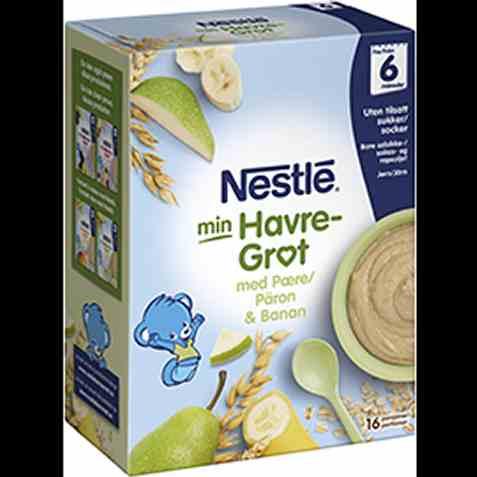 Bilde av Nestlé min grøt havre pære og banan 6 mnd pulver.