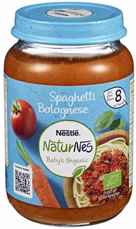 Bilde av Nestlé naturnes økologisk spaghetti bolognese 8 mnd.