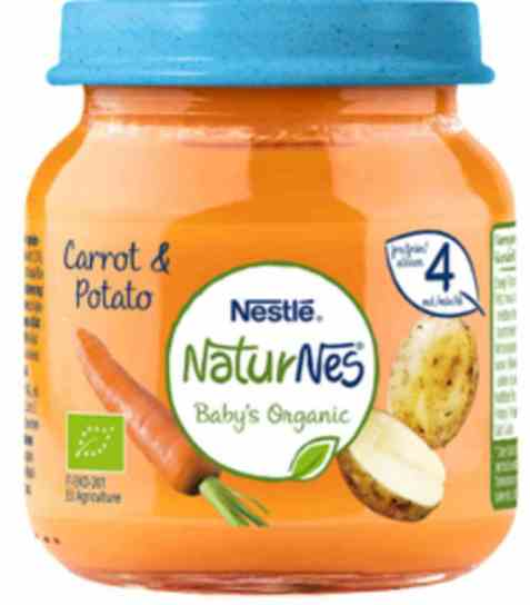 Bilde av Nestlé naturnes økologisk gulrot og poteter 4 mnd.