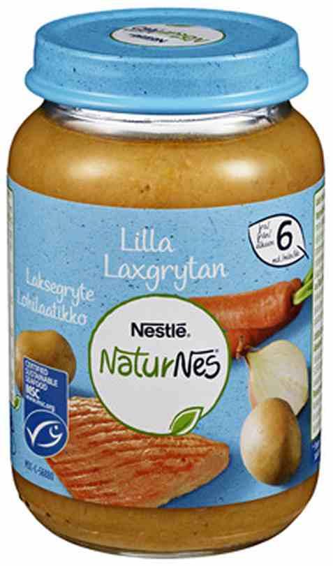 Bilde av Nestlé naturnes økologisk Laksegryte 6 mnd.