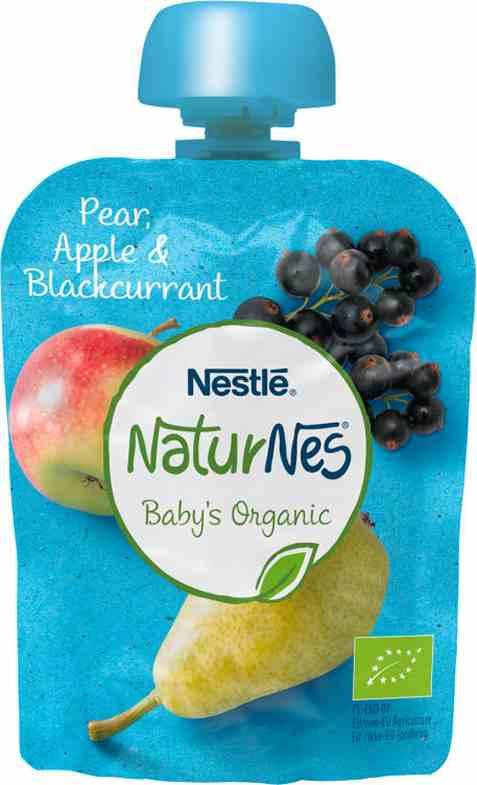 Bilde av Nestlé naturnes økologisk pære eple og solbær smoothie 6 mnd.