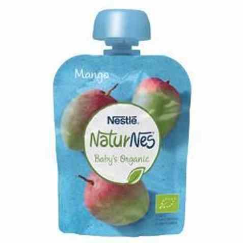 Bilde av Nestlé naturnes økologisk mango smoothie 6 mnd.