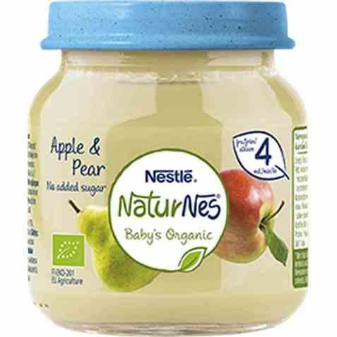 Bilde av Nestlé naturnes eple og pære 4 mnd.