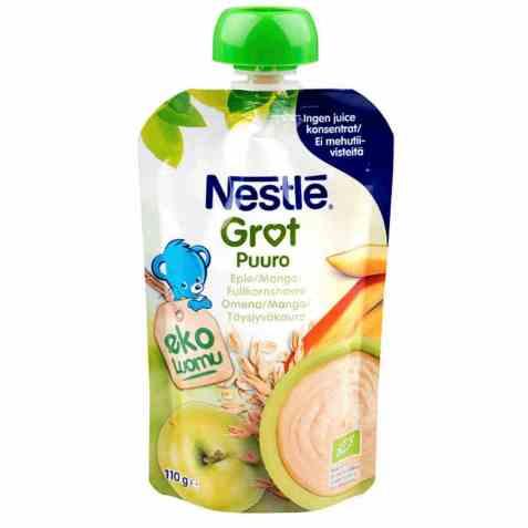 Bilde av Nestlé min Fullkornsgrøt eple og mango.