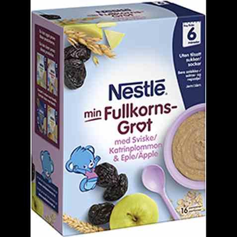 Bilde av Nestlé min grøt fullkorn sviske og eple 6 mnd.