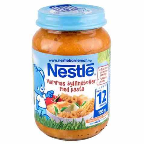 Bilde av Nestle mammas kyllingboller med pasta.