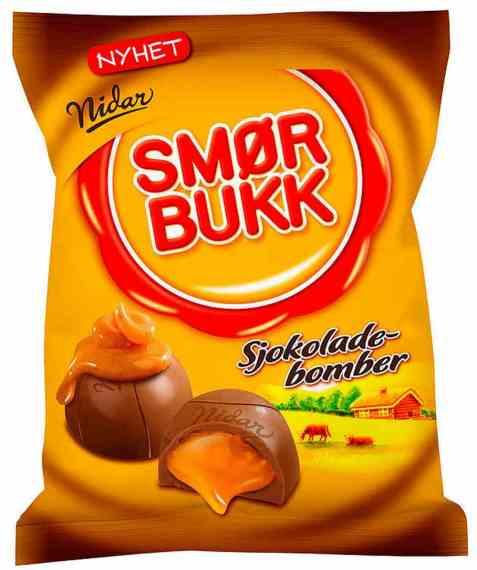 Bilde av Nidar smørbukk sjokoladebomber.