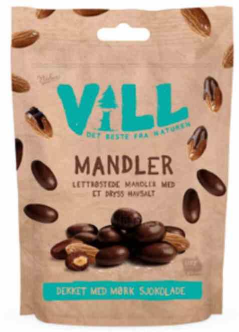 Bilde av Nidar Vill mandler med sjokolade.