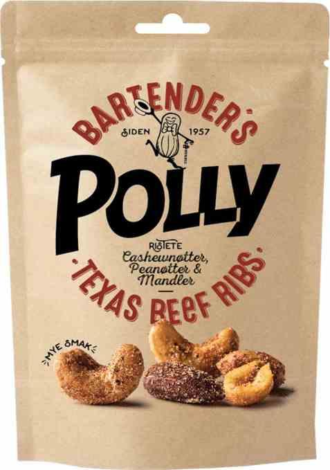 Bilde av Polly Bartenders Nøtter Texas Beef Ribs.