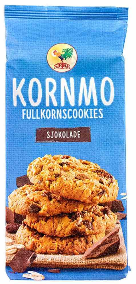 Bilde av Sætre kornmo cookies fullkorn og sjokolade.