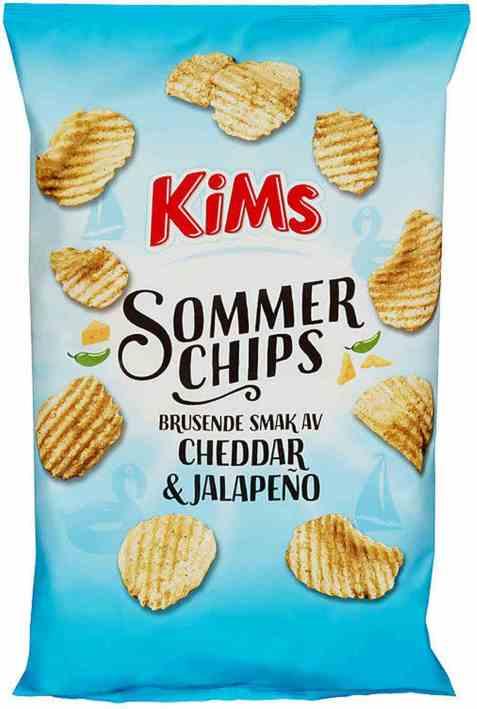 Bilde av Kims sommerchips cheddar og jalapeno.