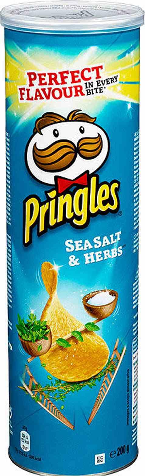 Bilde av Pringles sea salt and herbs 200 gr.