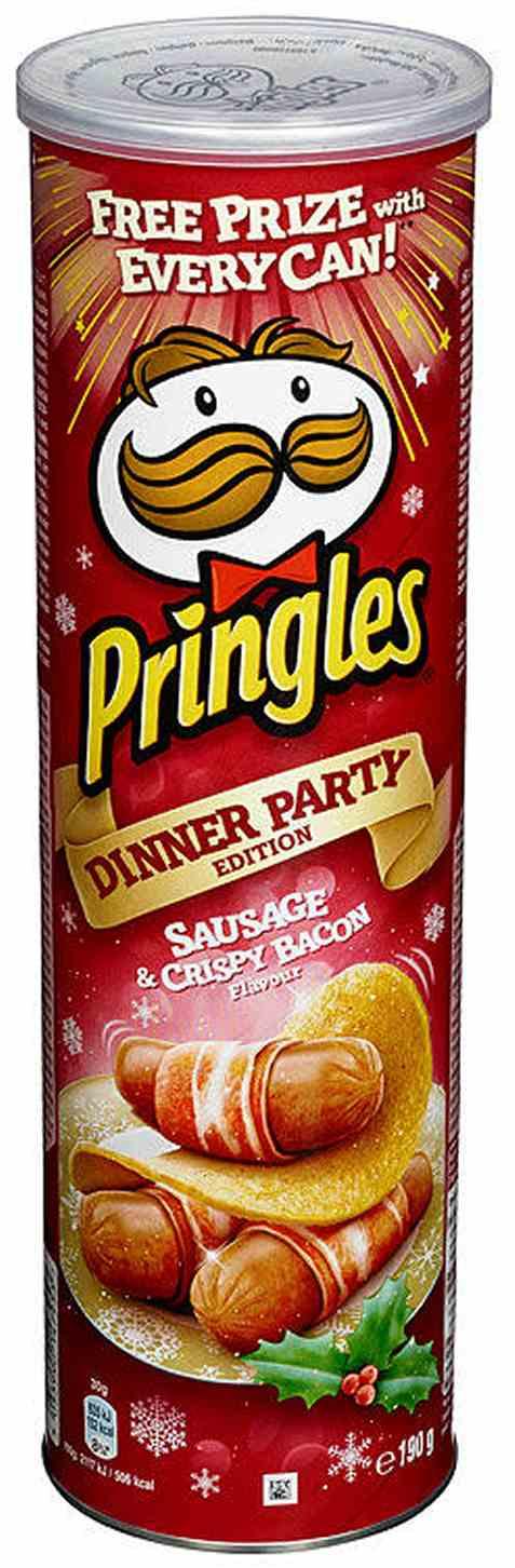 Bilde av Pringles sausage and crispy bacon.