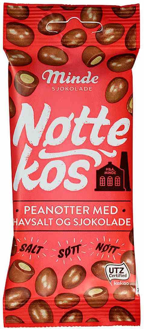 Bilde av Minde nøttekos peanøtt og sjokolade 60 gr.