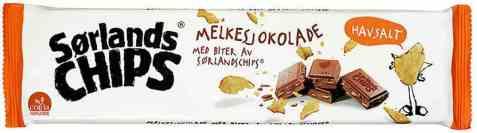 Bilde av Sørlandschips melkesjokolade med chips 165 gr.
