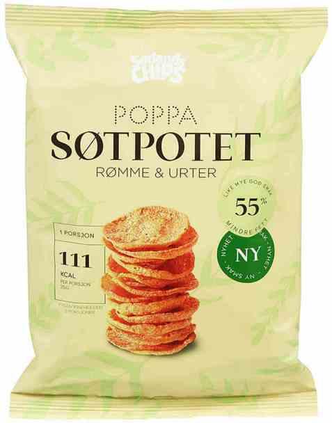 Bilde av Sørlandschips poppa chips søtpotet.