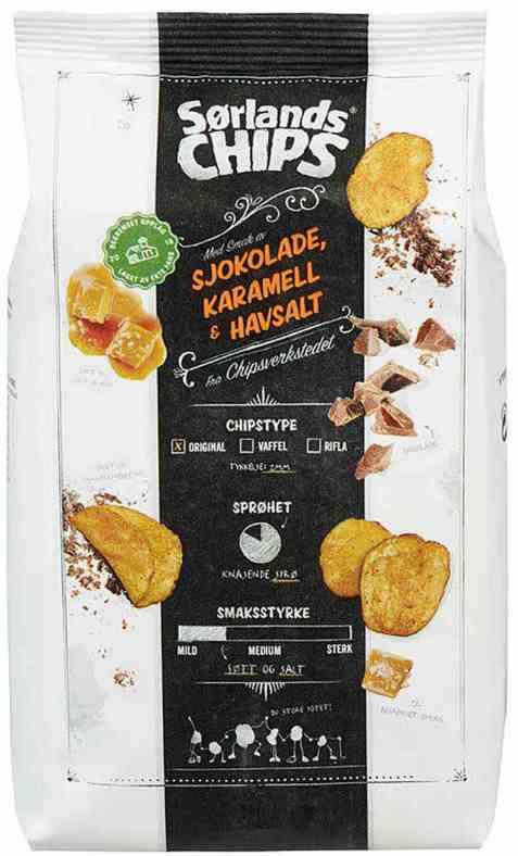 Bilde av Sørlandschips chipsverkstedet sjokolade og karamell.