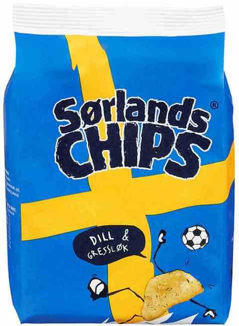 Bilde av Sørlandschips svensk dillchips.