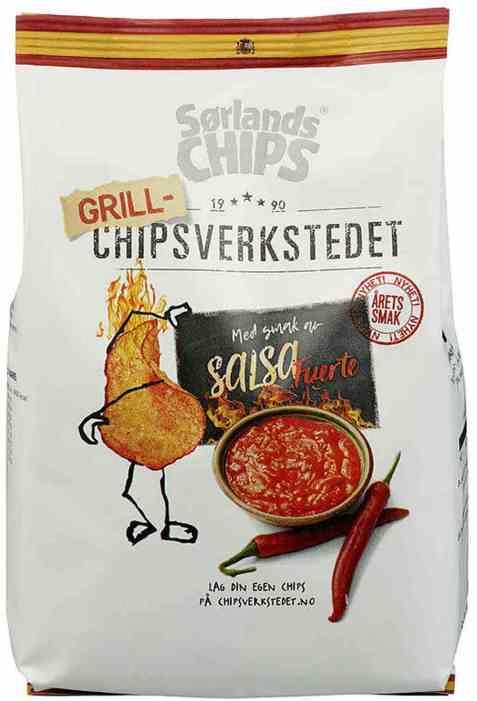 Bilde av Sørlandschips chipsverkstedet salsa.