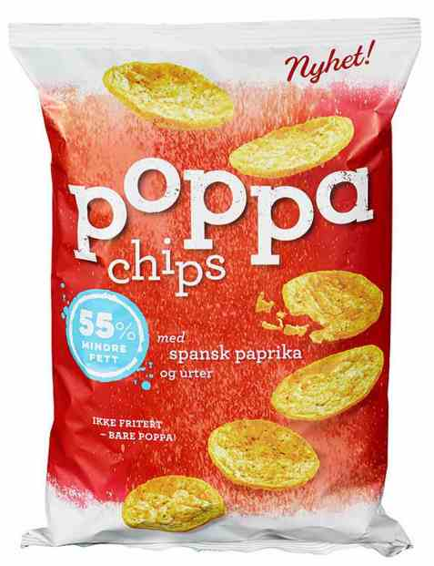 Bilde av Sørlandschips poppa chips paprika.