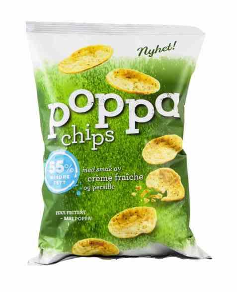 Bilde av Sørlandschips poppa chips creme fraiche.