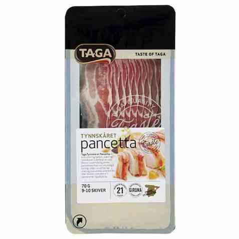 Bilde av Taga tynnskåret pancetta.