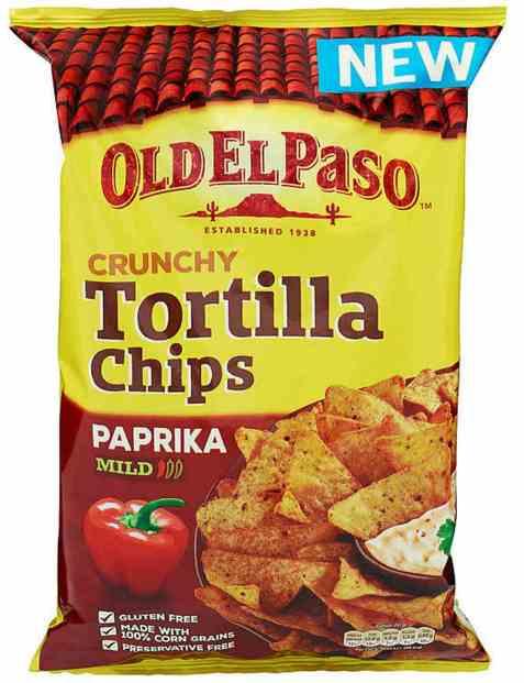 Bilde av Old El Paso Crunchy Tortillachips paprika.