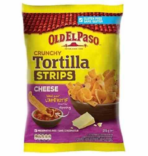 Bilde av Old El Paso crunchy tortilla strips cheese.
