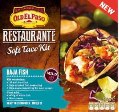Bilde av Old El Paso taco kit soft baja fish.