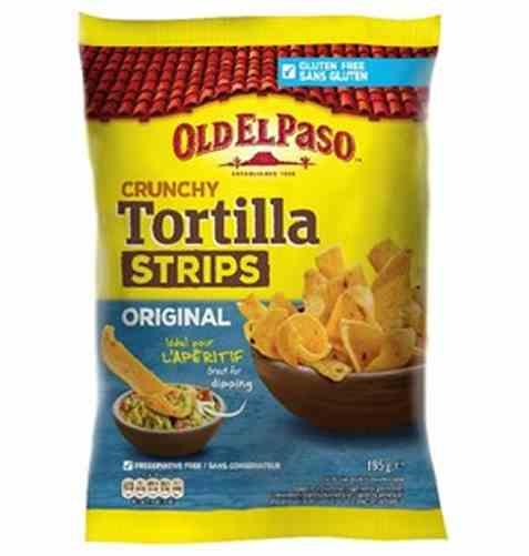 Bilde av Old El Paso crunchy tortilla strips salted.